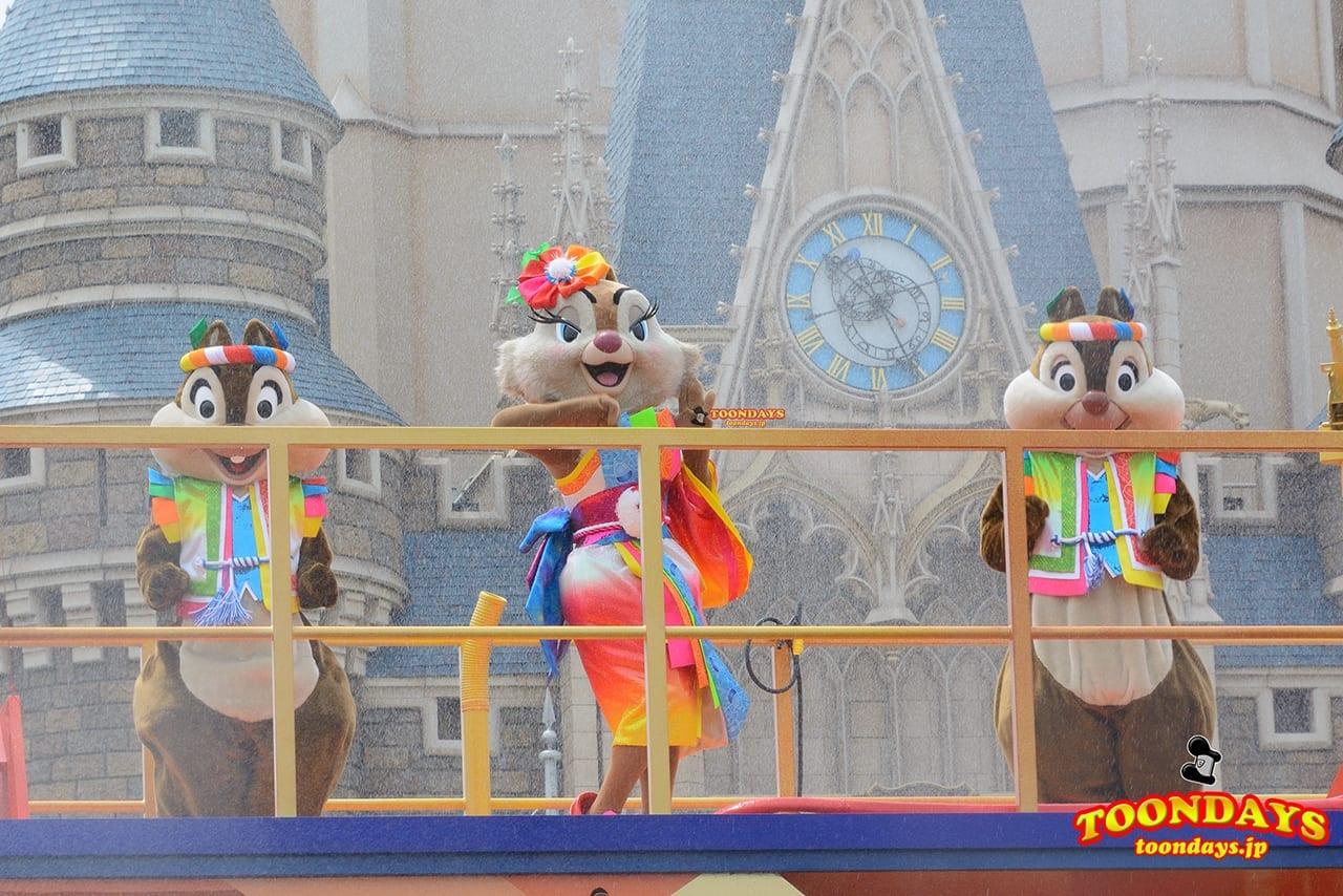 TDL ディズニー夏祭り 2016 彩涼華舞 チップ デール クラリス