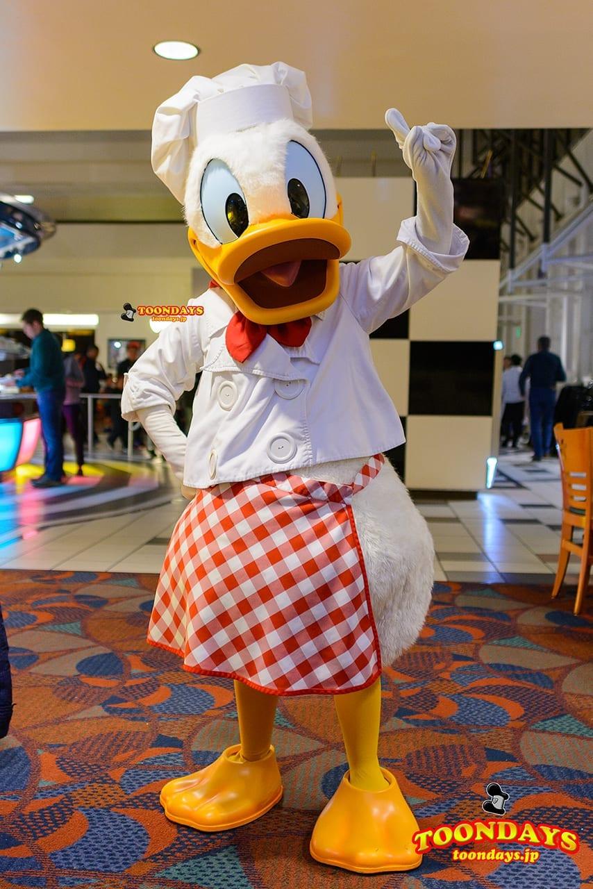 WDW ディズニー・コンテンポラリー・リゾート・ホテル シェフミッキー グリーティング ドナルドダック
