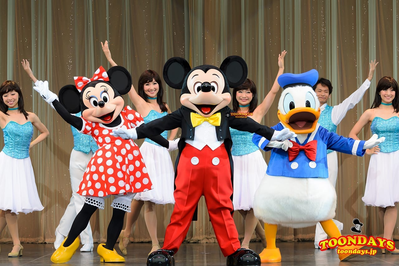 TDL トゥモローランド ショーベース パークファンパーティー ミニーマウス ミッキーマウス ドナルドダック
