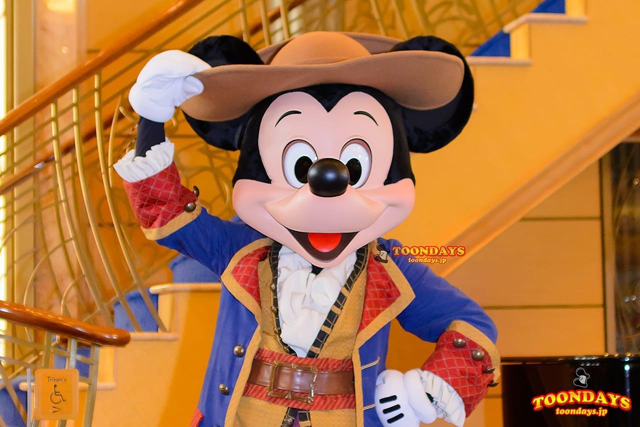 DCL ディズニー・ワンダー号 パイレーツナイト グリーティング ミッキーマウス