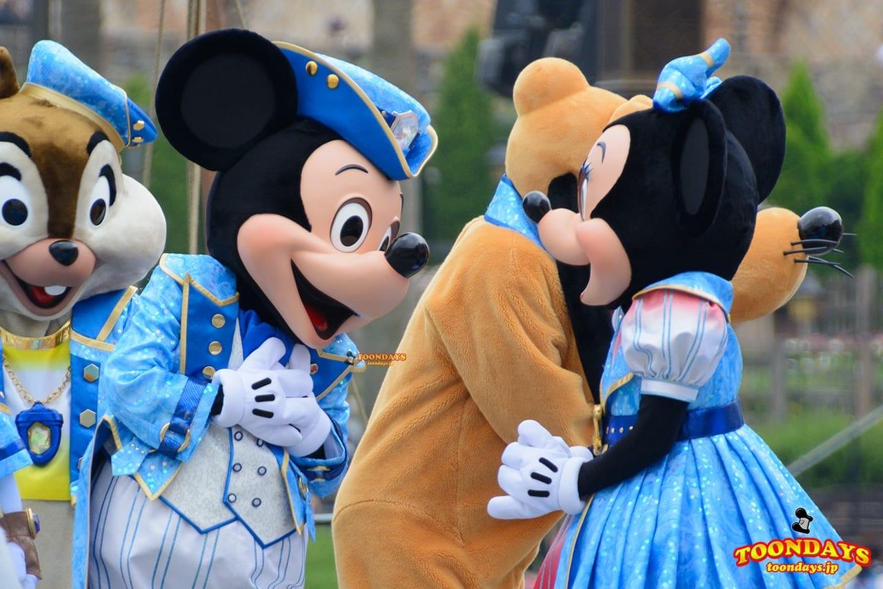 TDS ザ・イヤー・オブ・ウィッシュ 2016 15周年記念セレモニー ミッキーマウス ミニーマウス