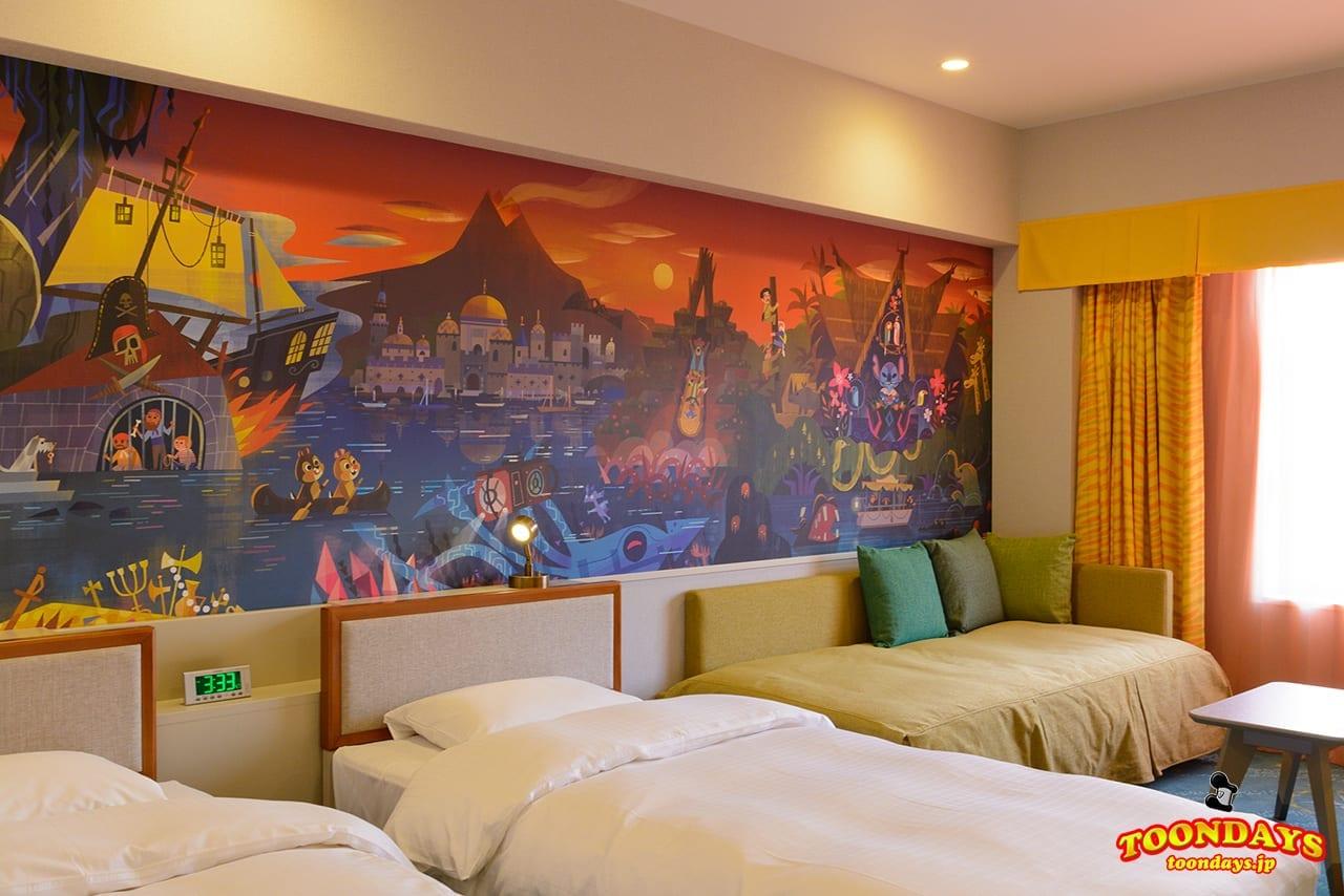 東京ディズニーセレブレーションホテル:ディスカバー」の客室紹介&感想