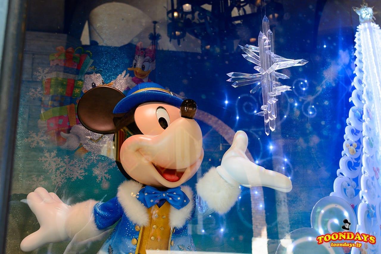 TDS クリスマス・ウィッシュ 2016 ミラコ下 ショーウィンドウ ミッキーマウス