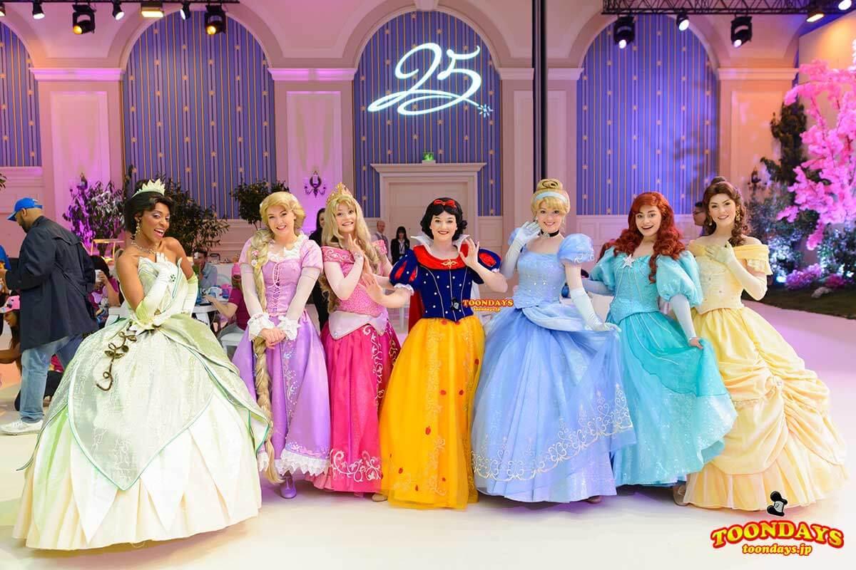 DLP 25周年 グリーティング ティアナ ラプンツェル オーロラ姫 白雪姫 シンデレラ アリエル ベル