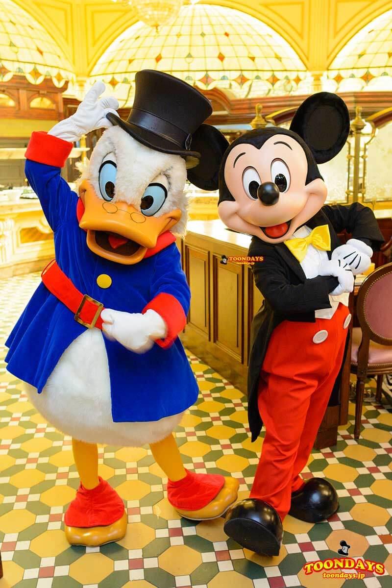 DLP プラザガーデンレストラン キャラクターブレックファスト グリーティング ミッキーマウス スクルージ マクダック2