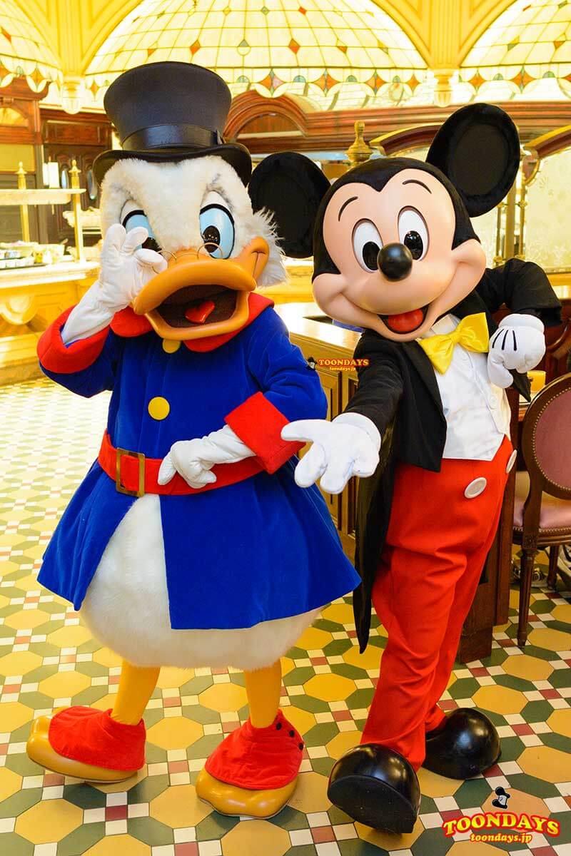 DLP プラザガーデンレストラン キャラクターブレックファスト グリーティング ミッキーマウス スクルージ マクダック1