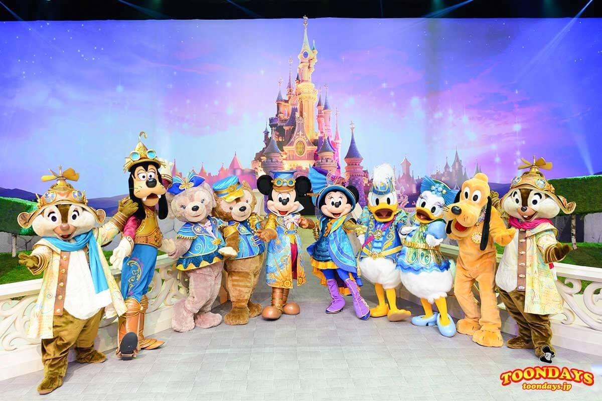 DLP 25周年イベント グリーティング ミッキーマウス ミニーマウス デイジーダック ドナルドダック グーフィー ダッフィー シェリーメイ2.jpg