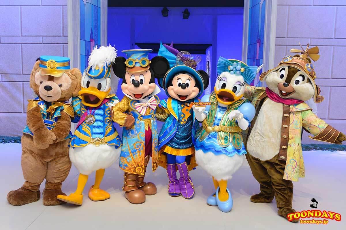 DLP 25周年イベント グリーティング ミッキーマウス ミニーマウス ドナルドダック デイジーダック ダッフィー チップ