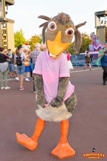 アビーは鴨のキャラクター