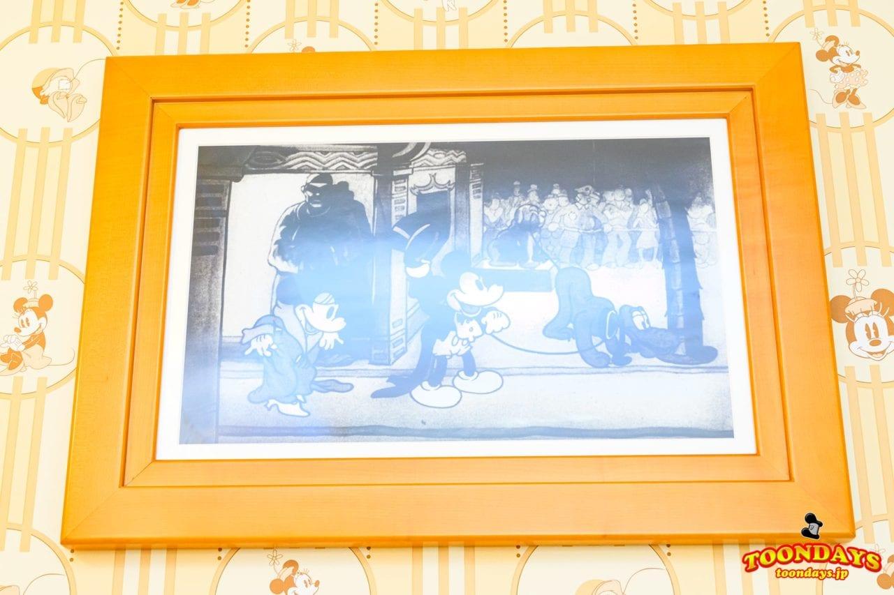 ミニーマウスルームの絵