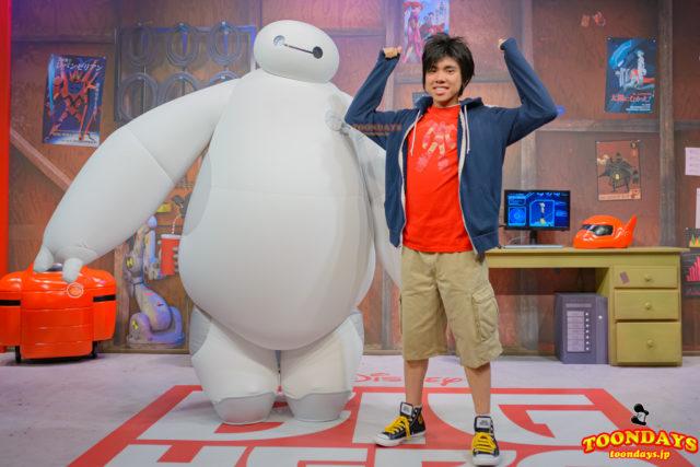 ディズニーハリウッドスタジオ アニメーションコートヤード グリーティング ヒロ ベイマックス