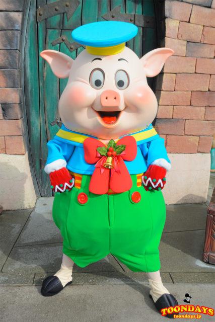 クリスマス限定のトゥーンタウン衣装のフィドラー