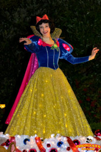 東京ディズニーランド・エレクトリカルパレード・ドリームライツの白雪姫(クリスマス衣装)