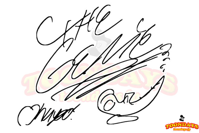 ジーニーのサイン