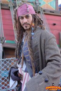 メディテレーニアンハーバーのフリーグリーティングのジャック・スパロウ(冬服)