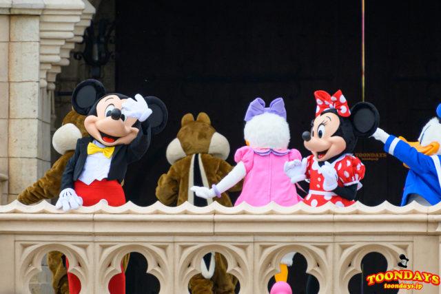 ミッキーとミニーが退場!